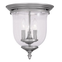 Livex 5024-91 Legacy 3 Light 12 inch Brushed Nickel Ceiling Mount Ceiling Light