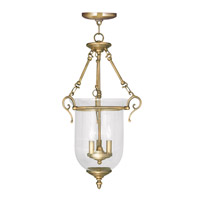 Livex Lighting Legacy 3 Light Pendant in Antique Brass 5025-01
