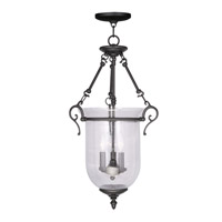 Livex Lighting Legacy 3 Light Pendant in Black 5025-04