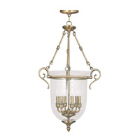 Livex Lighting Legacy 6 Light Pendant in Antique Brass 5026-01