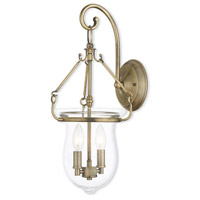 Livex 50292-01 Canterbury 2 Light 10 inch Antique Brass Wall Sconce Wall Light