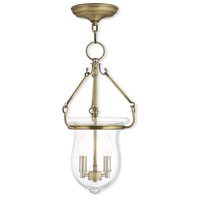 Livex 50294-01 Canterbury 2 Light 10 inch Antique Brass Pendant Ceiling Light