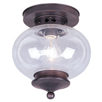 Livex Lighting Harbor 1 Light Ceiling Mount in Bronze 5032-07