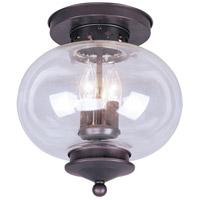 Livex Lighting Harbor 3 Light Ceiling Mount in Bronze 5033-07