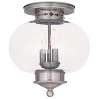 Harbor 3 Light 11 inch Brushed Nickel Ceiling Mount Ceiling Light