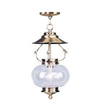 Livex Lighting Harbor 1 Light Pendant in Antique Brass 5034-01