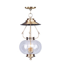 Livex Lighting Harbor 3 Light Pendant in Antique Brass 5035-01