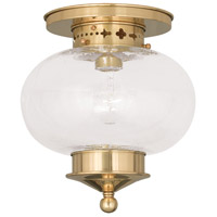 Livex 5036-02 Harbor 1 Light 10 inch Polished Brass Ceiling Mount Ceiling Light