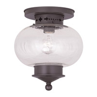Livex Lighting Harbor 1 Light Ceiling Mount in Bronze 5036-07