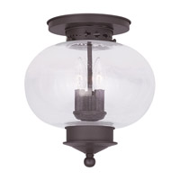Livex Lighting Harbor 3 Light Ceiling Mount in Bronze 5037-07