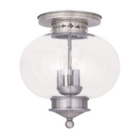 Livex Lighting Harbor 3 Light Ceiling Mount in Brushed Nickel 5037-91