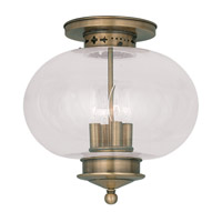 Livex Lighting Harbor 4 Light Ceiling Mount in Antique Brass 5038-01