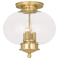Livex Lighting Harbor 4 Light Ceiling Mount in Polished Brass 5038-02