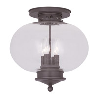 Livex Lighting Harbor 4 Light Ceiling Mount in Bronze 5038-07