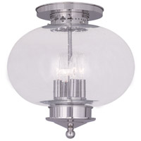 Livex Lighting Harbor 4 Light Ceiling Mount in Polished Nickel 5038-35