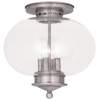 Livex Lighting Harbor 4 Light Ceiling Mount in Brushed Nickel 5038-91
