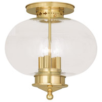 Livex Lighting Harbor 4 Light Ceiling Mount in Polished Brass 5039-02