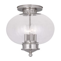 Livex Lighting Harbor 4 Light Ceiling Mount in Polished Nickel 5039-35