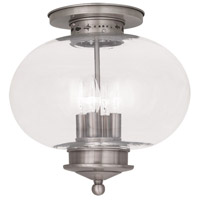 Livex Lighting Harbor 4 Light Ceiling Mount in Brushed Nickel 5039-91