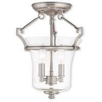 Livex Lighting Buchanan 2 Light Flush Mount in Brushed Nickel 50401-91