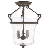 Livex Lighting Buchanan 3 Light Flush Mount in Bronze 50403-07