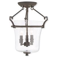 Livex 50403-07 Buchanan 3 Light 13 inch Bronze Flush Mount Ceiling Light
