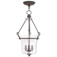 Livex 50404-07 Buchanan 3 Light 13 inch Bronze Pendant Ceiling Light