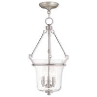 Livex 50404-91 Buchanan 3 Light 13 inch Brushed Nickel Pendant Ceiling Light