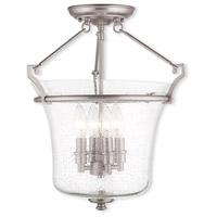 Livex 50405-91 Buchanan 4 Light 16 inch Brushed Nickel Flush Mount Ceiling Light