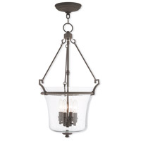 Livex Lighting Buchanan 4 Light Pendant in Bronze 50406-07