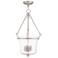 Livex Lighting Buchanan 4 Light Pendant in Brushed Nickel 50406-91