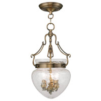 Livex Lighting Duchess 3 Light Pendant/Ceiling Mount in Antique Brass 5041-01