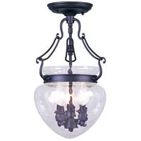 Livex 5041-04 Duchess 3 Light 10 inch Black Pendant/Ceiling Mount Ceiling Light