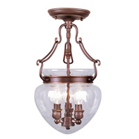 Livex Lighting Duchess 3 Light Pendant/Ceiling Mount in Vintage Bronze 5041-70
