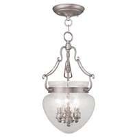 Livex 5041-91 Duchess 3 Light 10 inch Brushed Nickel Pendant/Ceiling Mount Ceiling Light