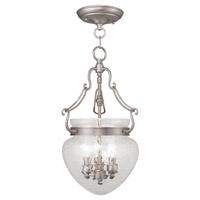 Livex 5041-91 Duchess 3 Light 10 inch Brushed Nickel Pendant/Ceiling Mount Ceiling Light