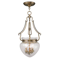 Livex Lighting Duchess 3 Light Pendant in Antique Brass 5043-01
