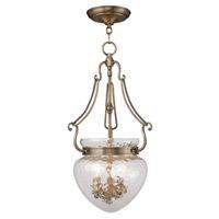Livex 5043-01 Duchess 3 Light 12 inch Antique Brass Pendant Ceiling Light
