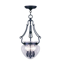 Livex Lighting Duchess 3 Light Pendant in Black 5043-04