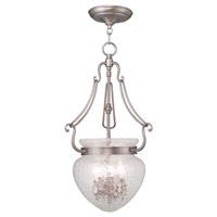 Livex Lighting Duchess 3 Light Pendant in Brushed Nickel 5043-91