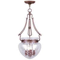 Livex 5044-70 Duchess 4 Light 14 inch Vintage Bronze Pendant Ceiling Light
