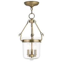 Rockford 3 Light 11 inch Antique Brass Pendant Ceiling Light