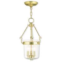 Livex 50482-02 Rockford 3 Light 11 inch Polished Brass Pendant Ceiling Light