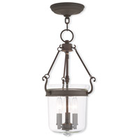 Livex 50482-07 Rockford 3 Light 11 inch Bronze Pendant Ceiling Light