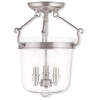 Livex Lighting Rockford 3 Light Flush Mount in Brushed Nickel 50483-91