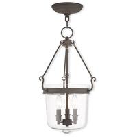 Livex 50484-07 Rockford 3 Light 12 inch Bronze Pendant Ceiling Light