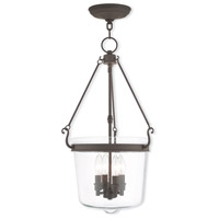 Livex Lighting Rockford 4 Light Pendant in Bronze 50486-07