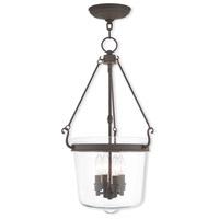 Livex 50486-07 Rockford 4 Light 14 inch Bronze Pendant Ceiling Light