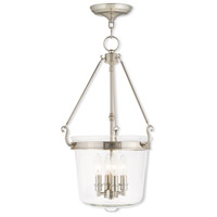 Livex 50486-35 Rockford 4 Light 14 inch Polished Nickel Pendant Ceiling Light