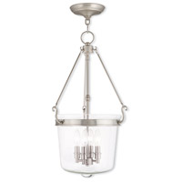 Livex Lighting Rockford 4 Light Pendant in Brushed Nickel 50486-91